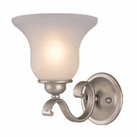 Cape 1 Light Vanity Lamp - Brushed Nickel