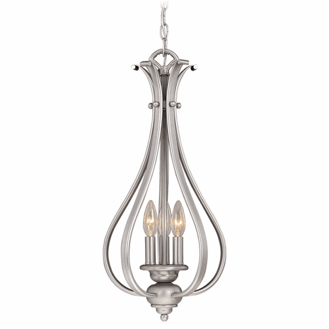Cape 3 Light Pendant - Brushed Nickel