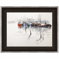 Cape Cod Ice Framed Canvas