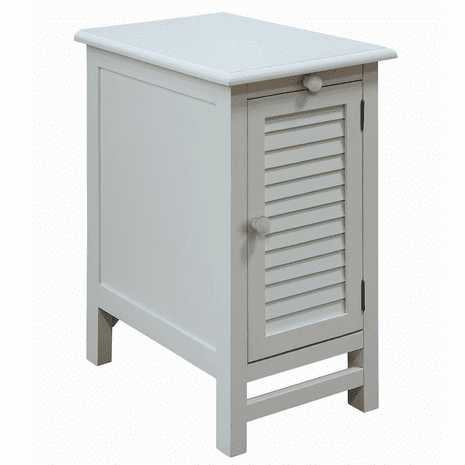 Cape May Cottage White Shutter Door Chairside Table