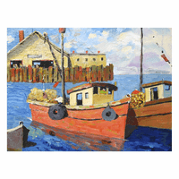 Capeside Boats Canvas Art
