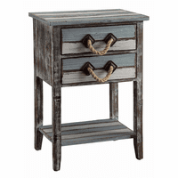 Capeside Weathered Wood Accent Table