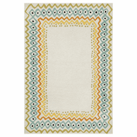 Capri Ethnic Border Pastel Rug Collection