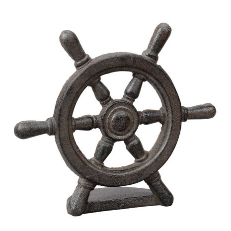 Captain's Wheel Cast Iron Door Stopper