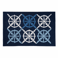 Captain's Wheel Hooked Rug