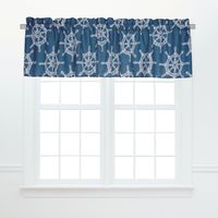 Captain's Wheel Valance - Set of 2