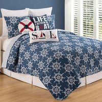 Captain's Wheels Quilt Set - King