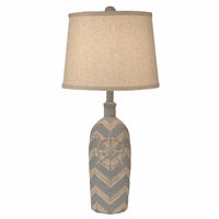 Captains Wheel Chevron Table Lamp
