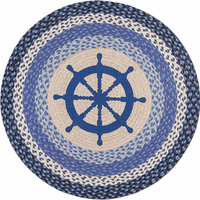 Captains Wheel Round Rug