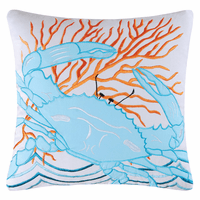 Caribbean Dreams Blue Crab Pillow
