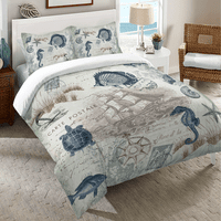 Carte Postale Duvet Cover - King