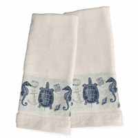 Carte Postale Hand Towels - Set of 2