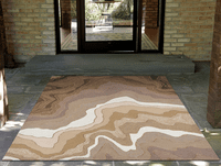 Cascading Waves Indoor/Outdoor Khaki Rug Collection