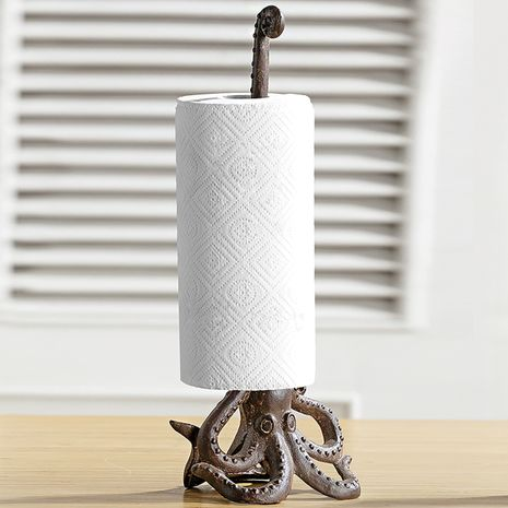 Cast Iron Octopus Paper Towel Holder