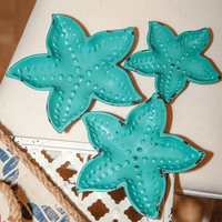 Cast Iron Starfish Dish Set - Set of 3 - CLEARANCE