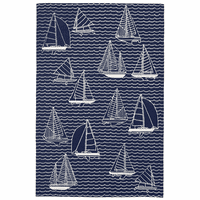 Cast Off Navy Indoor/Outdoor Rug Collection