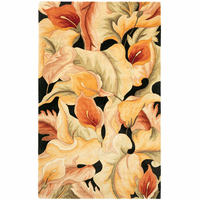 Catalina Black Calla Lilies Rug Collection