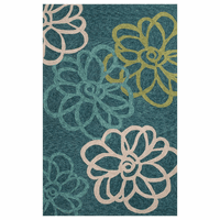 Catalina Blossomed Blue Rug Collection