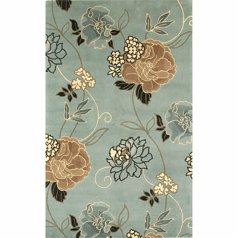 Catalina Blue and Beige Paradise Rug - 8 x 11