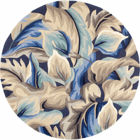 Catalina Blue Calla Lilies Rug - 6 Ft Round