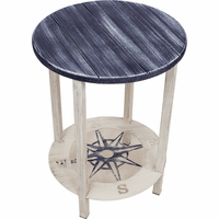 Catalina End Table with Compass Shelf