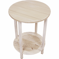 Catalina End Table with Sand Dollar Shelf