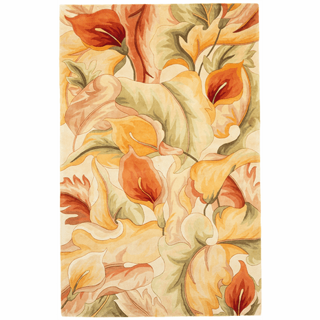 Catalina Ivory Calla Lilies Rug - 3 x 4