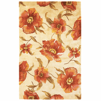 Catalina Ivory Poppies Rug Collection