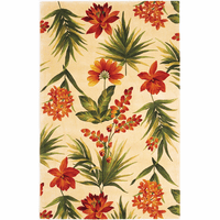 Catalina Ivory Tropical Flora Rug Collection