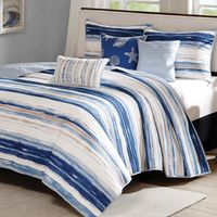 Catalina Shore 6 Piece Quilted Coverlet Set - King/Cal King
