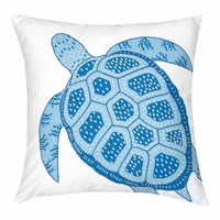 Cayman Sea Turtle Pillow