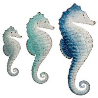 Cayo Coco Seahorse Wall Art - Set of 3