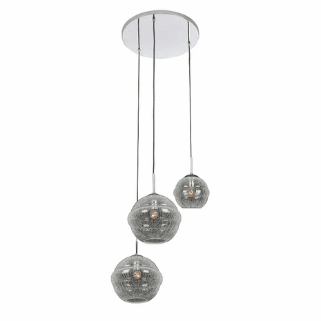 Celine 3 Light Foyer Pendant - Chrome