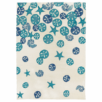 Cerulean Shells Indoor/Outdoor Rug - 8 x 10