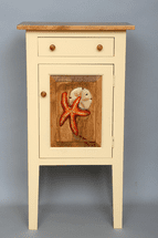 Charleston Cabinet with Starfish Carving - OUT OF STOCK
