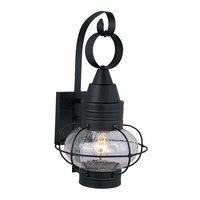 Chatham Black Outdoor Wall Sconce - 10 Inch