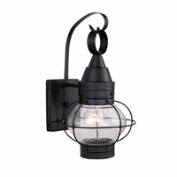 Chatham Black Outdoor Wall Sconce - 8 Inch