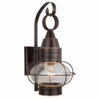 Chatham Bronze Outdoor Wall Sconce - 10 Inch