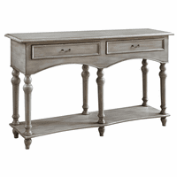 Chelsea Antiqued Gray 2 Drawer Console Table
