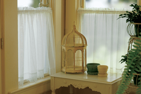 Chelsea Ecru Lace Window Tier - 48 x 36