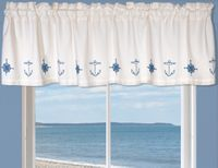 Chesapeake Bay Ancor & Compass Valance - OVERSTOCK