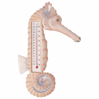 Chiffon Seahorse Small Window Thermometer