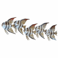 Cinco Angelfish Metal Wall Art