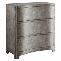 Claremont 3 Curved Drawer Brushed Linen Chest