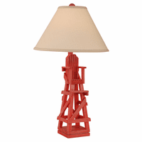 Classic Red Lifeguard Chair Table Lamp