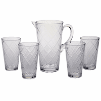 Clear Lattice Acrylic Glassware