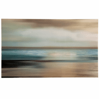 Cloudy Seascape Canvas Wall Art