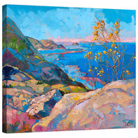 Coastal Bloom Mirror Wrapped Canvas