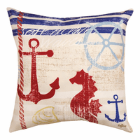 Coastal Breeze Seahorse Indoor/Outdoor Pillow