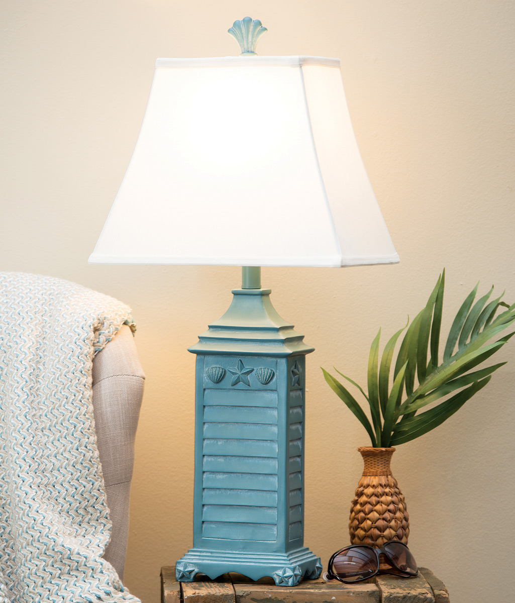 Beach Table Lamps Beach House Blue Shutter Table Lamp